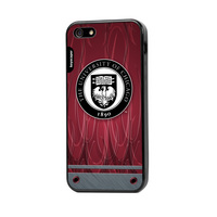Iphone 5 or 5S case with rubber edges to protect your IPhone while showing off your school spirit!