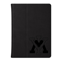 CENTON Virginia Military Inst Custom Logo Embossed Leather iPad Air Folio Case Black