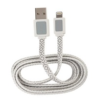 AR Apple Lightning to USB Cable, White &Grey