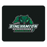 Binghamton University Custom Logo Mouse Pad Black