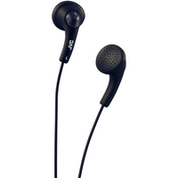 JVC Gumy Ear Bud Headphone, Black