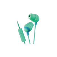 JVC Marshmallow Headphones with Mic, Green