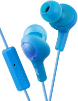 JVC GUMY PLUS IN EAR HEADPHONE WITH MIC AND REMOTE, BLUE
