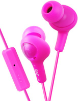 JVC GUMY PLUS IN EAR HEADPHONE WITH MIC AND REMOTE, PINK