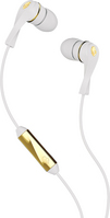 Skullcandy Winkd Earbud Headphones with Mic, White & Brown