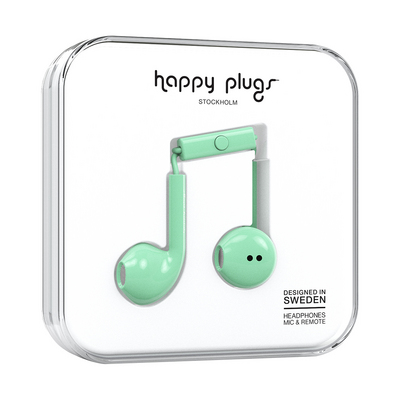 Happy Plugs, Inc Earbuds Plus, Mint