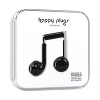 Happy Plugs, Inc Earbuds Plus, Black
