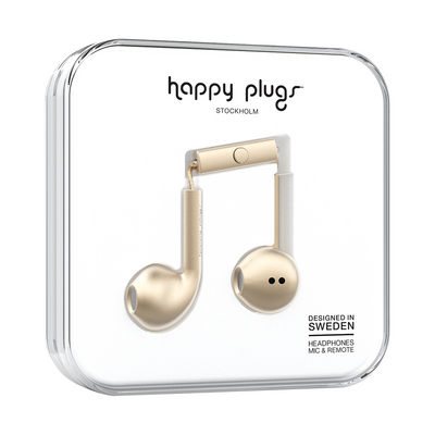 Happy Plugs, Inc Earbuds Plus, Champagne