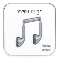 Happy Plugs Earbuds, Space Gray