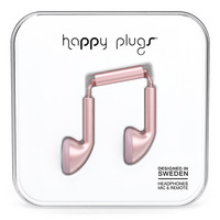 Happy Plugs Earbuds, Pink Gold