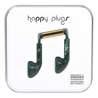 Happy Plugs, Inc Happy Plugs Earbud Jade Green Marble, Green Marble