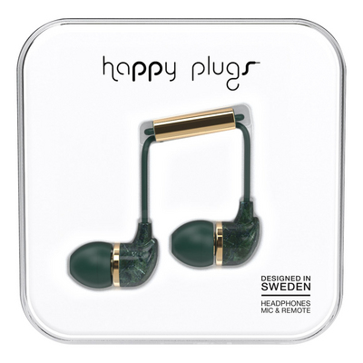 Happy Plugs, Inc Happy Plugs InEar Jade Green Marble, Green Marble