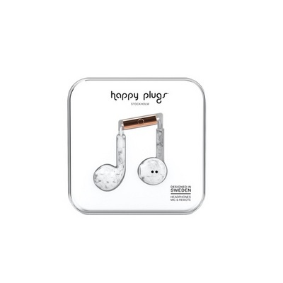 Happy Plugs EarbudPlus White Marble