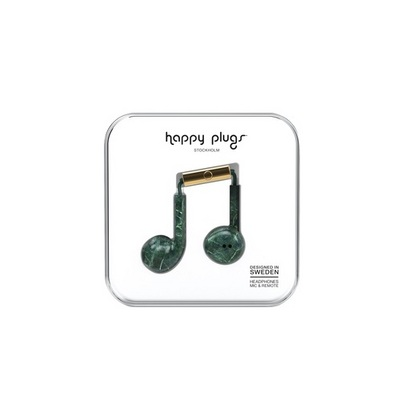 Happy Plugs EarbudPlus Green Marble