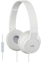 JVC Powerful Bass On Ear Headphones with Mic, White