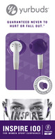 Yurbuds Womens Series Inspire 100 Earbud Headphones, Purple