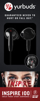 Harman International Inspire 100 Earbud Headphones (Black)