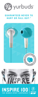 Womens Series Inspire 100 Earbud Headphones (Aqua)