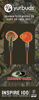 Yurbuds Mossy Oak Series Inspire 100 Earbud Headphones, Camo & Orange