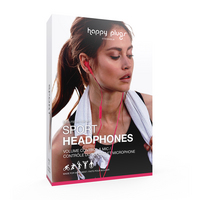 Happy Plugs, Inc Sport Headphones, Cerise