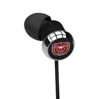 Mississippi State University Custom Logo Earbuds  Black