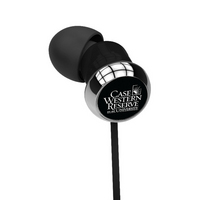 Case Western  Reserve University Custom Logo Earbud Headphone
