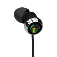 George Mason University Custom Logo Earbuds  Black