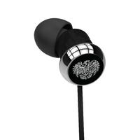 University of Chicago Custom Logo Earbuds  Black