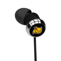Rowan University Custom Logo Earbuds  Black