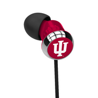 Indiana University Custom Logo Earbuds  Black