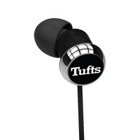 CENTON Tufts University Custom Logo Earbuds  Black