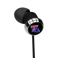 Louisiana Tech Custom Logo Earbuds  Black