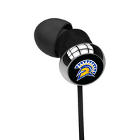 San Jose State University Custom Logo Earbuds  Black