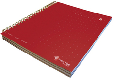 Livescribe Dot Matrix 3Subject Lined Notebook #2 Red