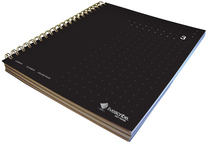 Livescribe Dot Matrix 3Subject Lined Notebook #3 Black