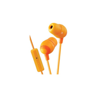 JVC Marshmallow Headphones with Mic, Orange