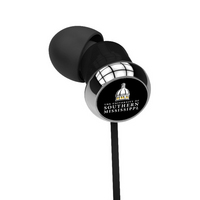 CENTON University of Southern Mississippi Custom Logo Earbuds  Black