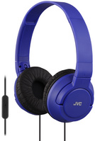 JVC Powerful Bass On Ear Headphones with Mic, Blue