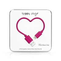 Happy Plugs Lightning to USB Charge & Sync Cable, Cerise Pink