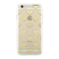 Kate Spade Hardshrll Clear iPhone 6, 6s Case. Hearts