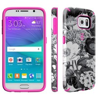 Samsung Galaxy S6 Candyshell Inked Vintage Bouquet, Pink & Grey