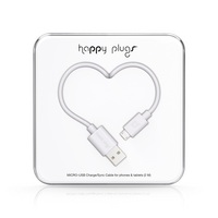 Happy Plugs Micro USB to USB Charge & Sync Cable, White