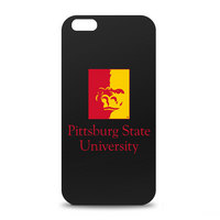 Pittsburg State University Custom Logo iPhone 6 Black Case by Centon