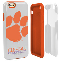 Clemson University Custom iPhone 6, 6s Case. White