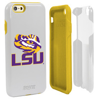 Louisiana State University Custom iPhone 6, 6s Case. White