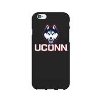 UCONN Custom Logo iPhone 6 Case, Black