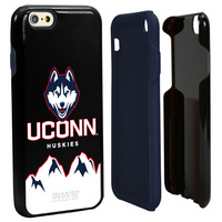 US DIGITAL MEDIA, INC Uconn Huskies DP1 Hybrid Case for iPhone 66s Black