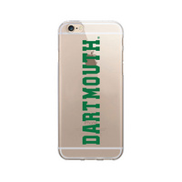 Centon Dartmouth College Clear Phone Case, Classic V1  iPhone 77S