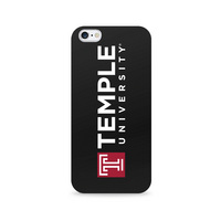 Centon Temple University Black Phone Case, Classic  iPhone 77S