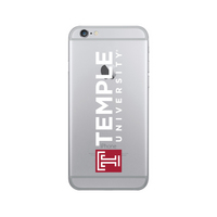 Centon Temple University Clear Phone Case, Classic  iPhone 77S